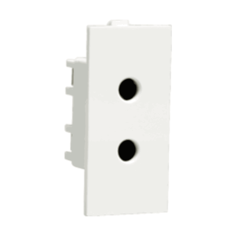 Athena Socket 6A 2 Pin Shuttered Socket