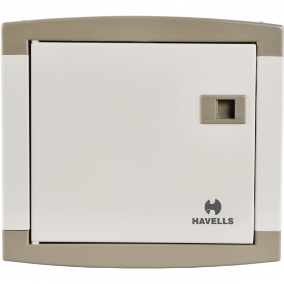 Havells DHDQTHCSRW04 T&PN Distribution Board, Color Regal Grey, No. of Ways 4