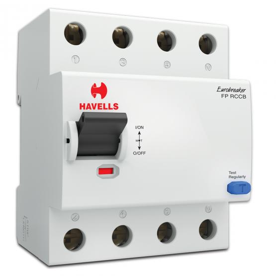 Havells DHRGCRFF030025 RCCB-AC,  Four Pole Rating 25A 30mA