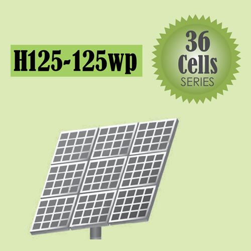 H125-125wp Solar 36 Cells Series